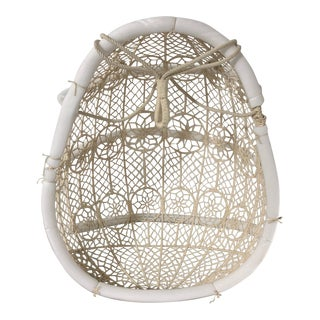 Anthropologie Knotted Hanging Chair For Sale