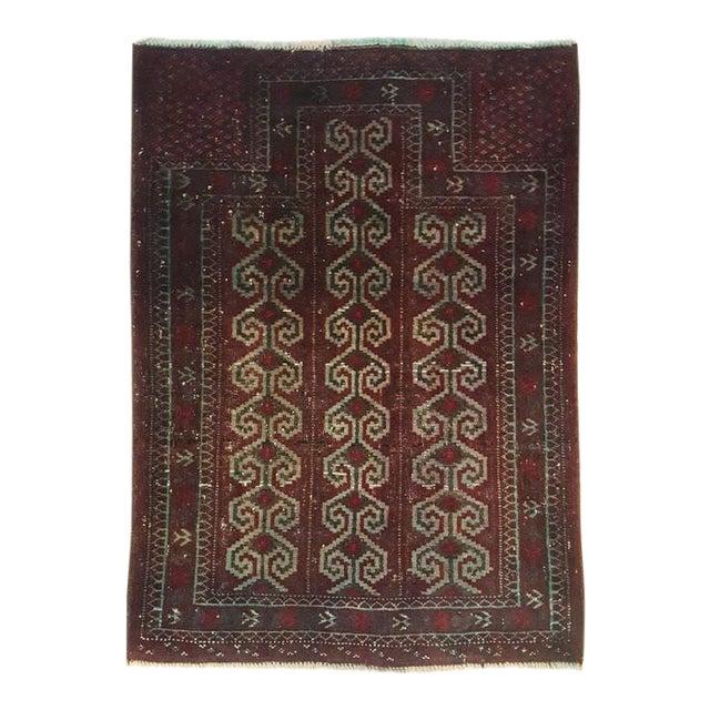Dark Wool Turkish Rug - 2′8″ × 3′8″ For Sale