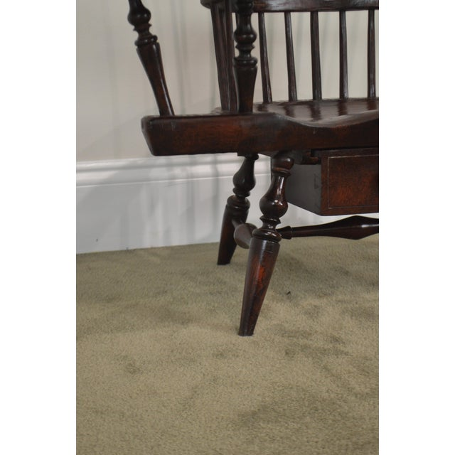 Windsor Style Miniature Childs Writing Arm Chair by K. Malone (18th Century Reproduction) For Sale In Philadelphia - Image 6 of 13