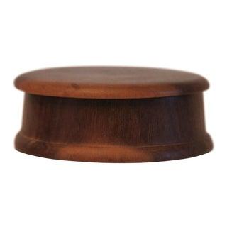 Hand-Turned Mahogany Box