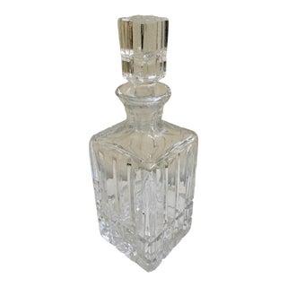 Vintage Cut Crystal Liquor Decanter For Sale