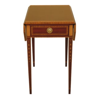 Councill Craftsmen Federal Style Inlaid Mahogany Pembroke Table