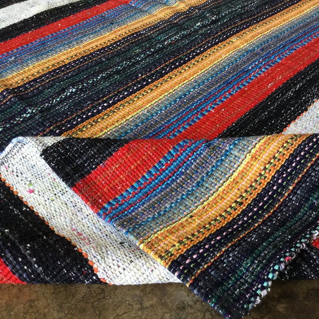 2010s Flat Weave Persian Kilim Area Rug - 5′7″ × 6′2″ -- 109012 For Sale - Image 5 of 11