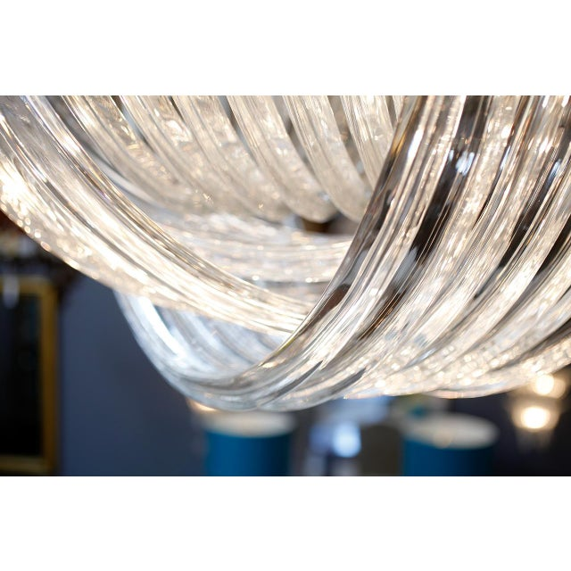 "Customizable Murano Glass ""Curve"" Chandelier For Sale - Image 9 of 10"