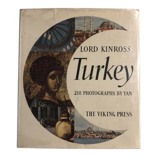 "Vintage Map Illustrations Book ""Turkey"" by Lord Kinross For Sale"