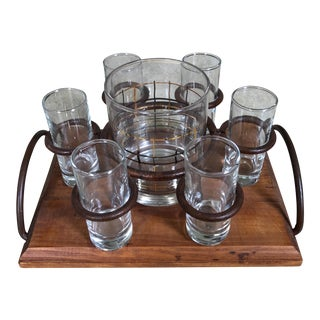 Shot Glasses & Holding Tray - Set of 7