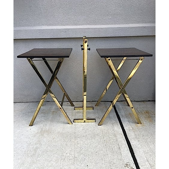 Hollywood Regency Style Tray Tables - Pair - Image 6 of 6