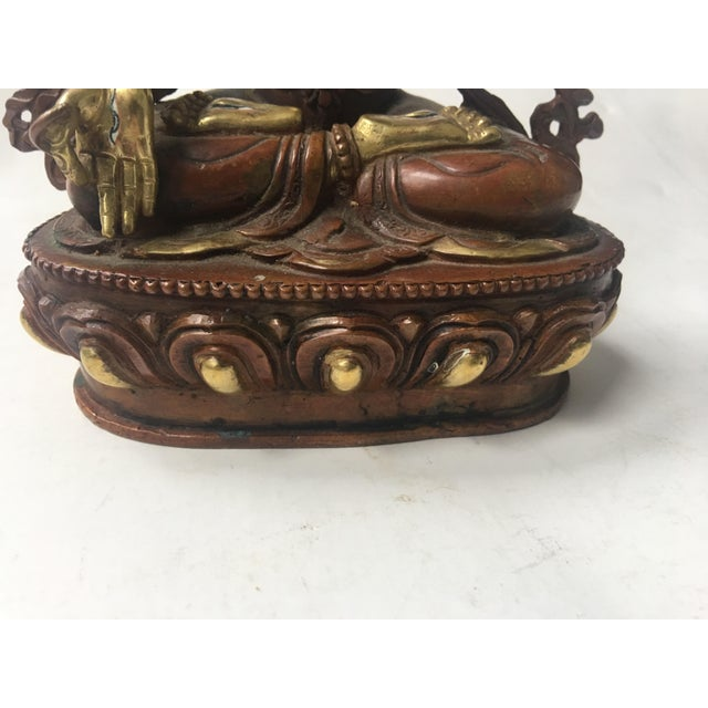 Buddhist Tara Goddess Of Cast Brass For Sale - Image 10 of 11