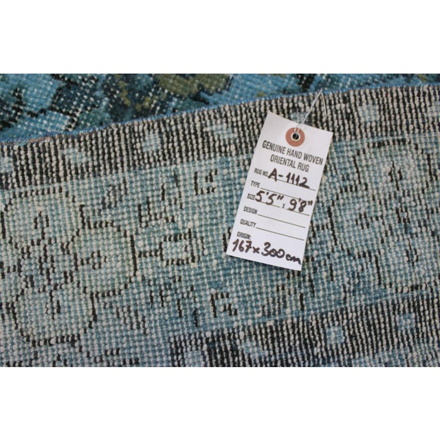 Turquoise Over-Dyed Rug - 5′5″ × 9'8″ - Image 10 of 10