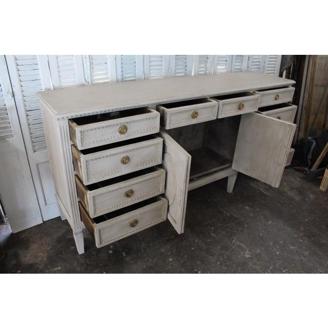 20th Century Gustavian Style Distressed Painted Sideboard For Sale In Atlanta - Image 6 of 8