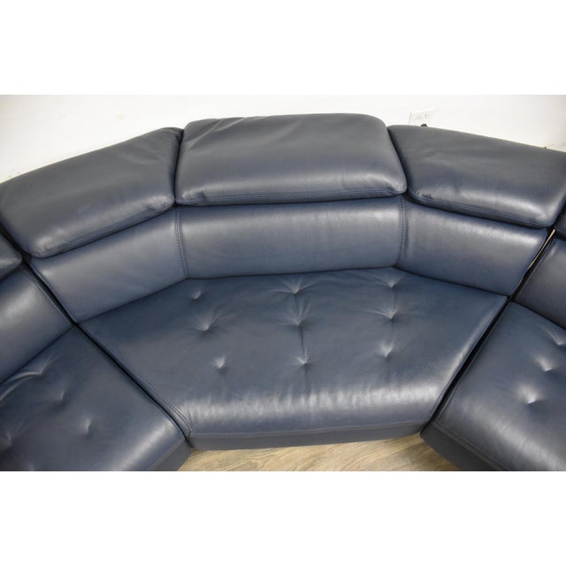 "Blue Roche Bobois ""Cinetique"" Reclining Modular Sofa For Sale - Image 8 of 13"