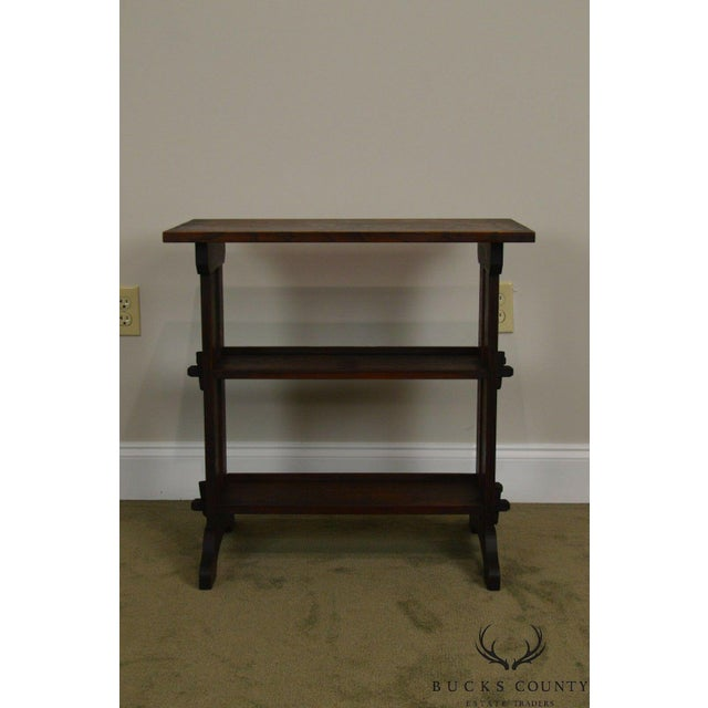 Roycroft Antique Mission Oak Little Journey's Book Stand For Sale In Philadelphia - Image 6 of 13