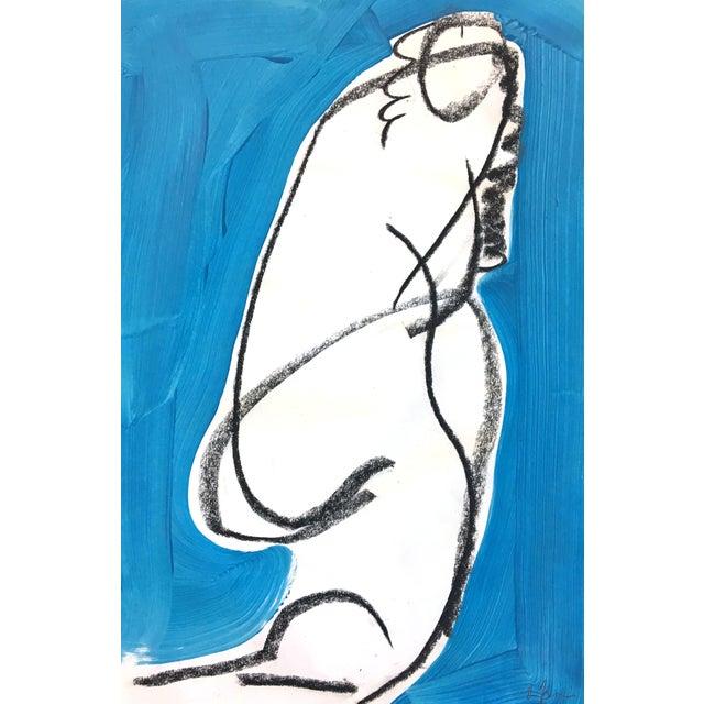 Heidi Lanino Ali Blue 2 Drawing by Heidi Lanino - 18x12 For Sale - Image 4 of 4
