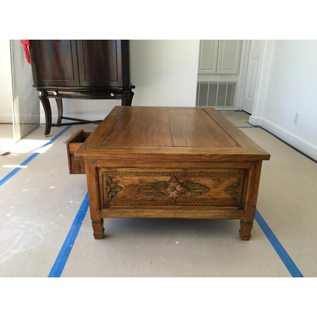 Hand Carved Coffee Table - Image 5 of 6