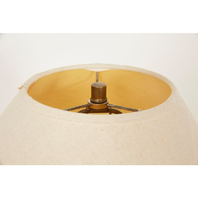 1980s Michael Taylor Style Spiral Plaster Floor Lamp For Sale - Image 12 of 13