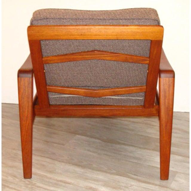 Arne Wahl Iversen Vintage Arne Wahl Iversen Chair and Ottoman Two Sets For Sale - Image 4 of 11