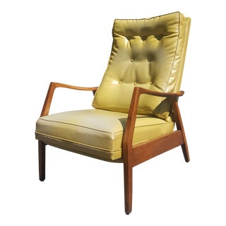 Citron Mid-Century Modern Milo Baughman for Thayer Coggin Recliner For Sale