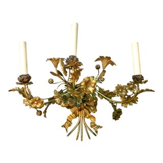 19th Century Louis XVI Gilt Bronze Three-Arm Sconce For Sale
