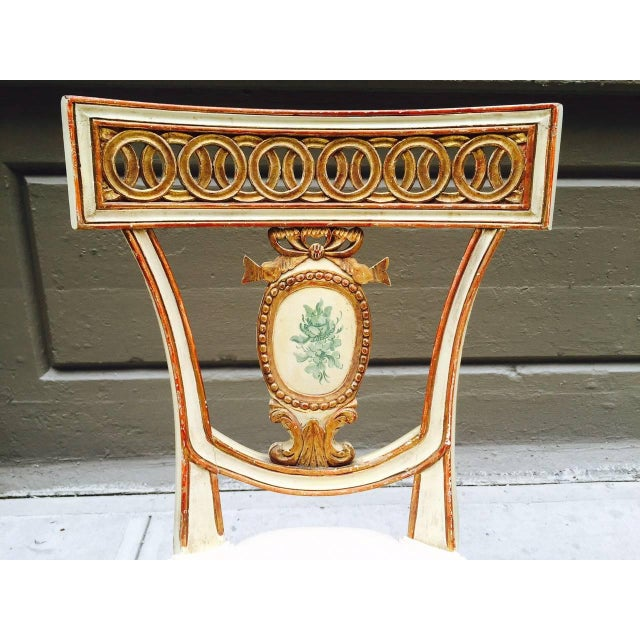 Mid 19th Century Pair of 19th Century Italian Neoclassical Side Chairs For Sale - Image 5 of 9