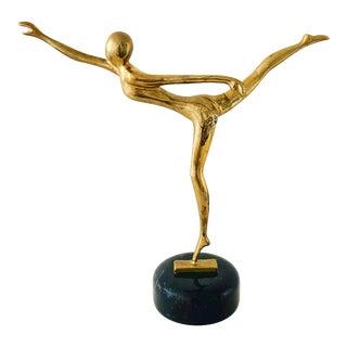 Brass Dancing Figure Sculpture For Sale