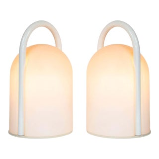 1980s Romolo Lanciani 'Tender' Table Lamps for Tronconi - a Pair For Sale
