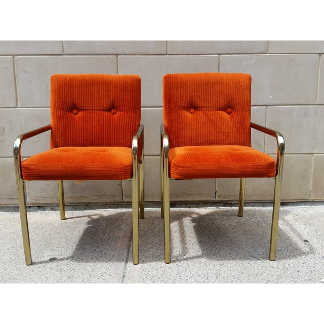 1980 Daystrom Orange Reception Chairs - a Pair - Image 2 of 7