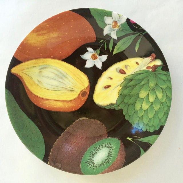Limoges Tropical Fruits Canape Plates - Set of 10 For Sale - Image 4 of 8
