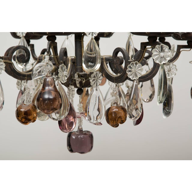 Gold French Eight-Light Chandelier With Multi-Form Pendants For Sale - Image 8 of 8