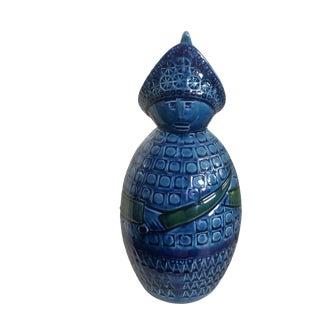 """Bitossi Style """"Guard"""" Figure in Rimini Blue For Sale"""