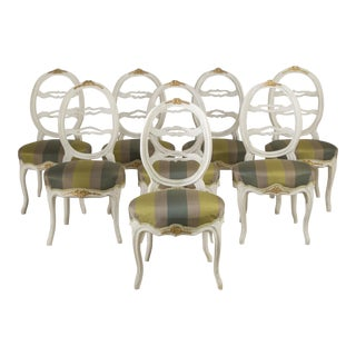Harlequin Set of Eight Swedish Dining Chairs, circa 1790 For Sale