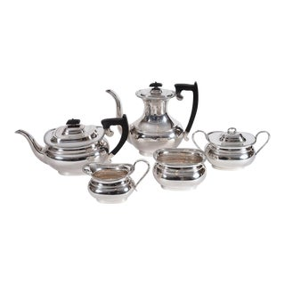 Vintage Sterling Silver English Sheffield Five Pieces Tea or Coffee Service For Sale