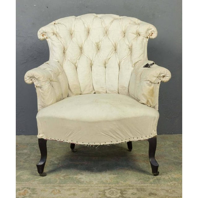 Pair of French Armchairs in Muslin - Image 2 of 11