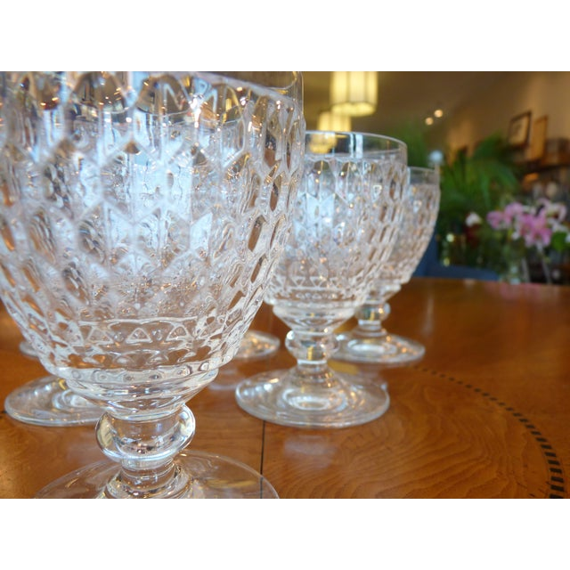 Multi Faceted Crystal Water Goblets - 6 - Image 3 of 7