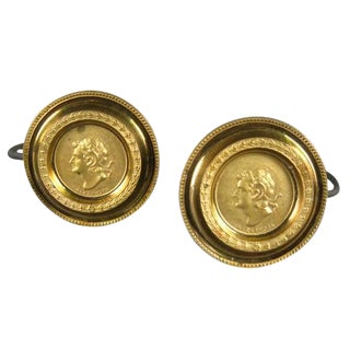 French Cameo Curtain Tie-Backs - a Pair For Sale