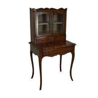 "French Louis XV Style ""Bonheur Du Jour"" Vintage Ladies Fruitwood Writing Secretary Desk For Sale"