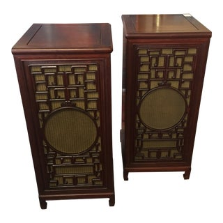 Vintage Rosewood Pedestal Cabinets - a Pair For Sale