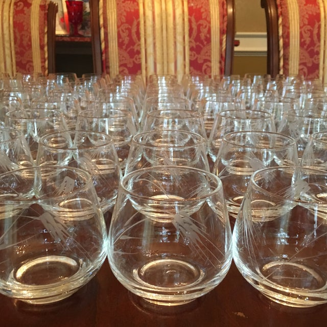 Ambassador to Italy's Crystal Punch Glasses & Bowl - Set of 73 For Sale - Image 10 of 12