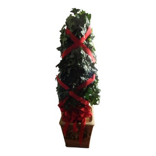 Vintage Christmas Topiary Urn For Sale