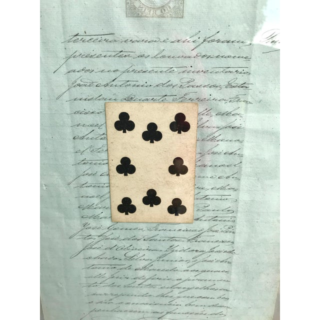 Early 20th Century Antique French Letters and Playing Card Collage For Sale - Image 10 of 13