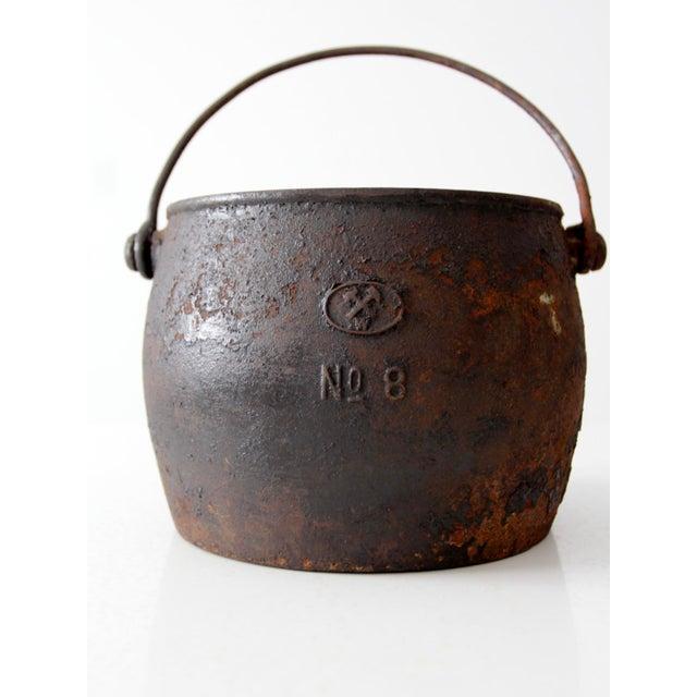 Cast Iron Antique Cast Iron Pot For Sale - Image 7 of 9