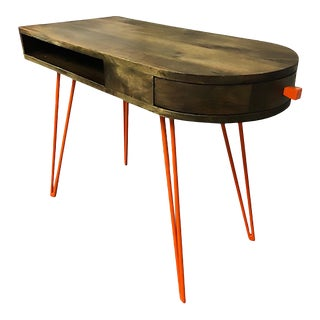 West Elm Mid Century Style Hairpin Desk For Sale