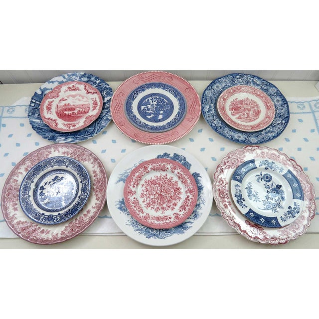 Ceramic Mismatched Ironstone China Set, Service for 6 For Sale - Image 7 of 11