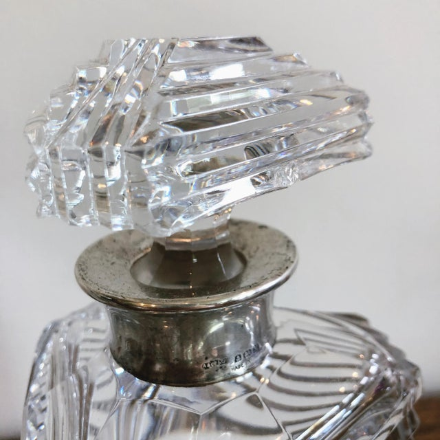 Metal Asprey Crystal Decanters With Sterling Hardware - a Pair For Sale - Image 7 of 13