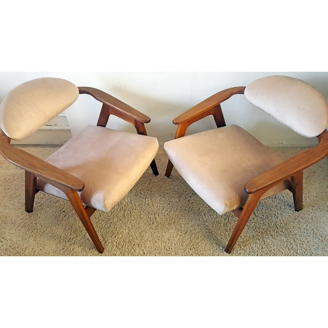 Adrian Pearsall Craft Captain Chairs - Pair - Image 8 of 8