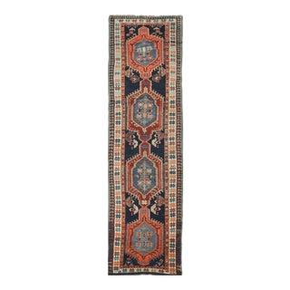 "Antique Handmade Northwest Persian Runner Rug - 3'2"" x 11'"
