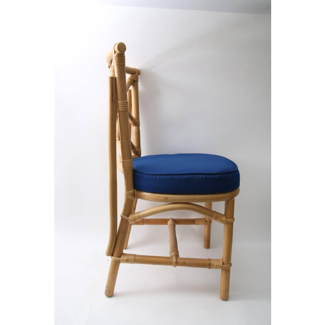 Set of Four Bamboo Side Chairs For Sale In West Palm - Image 6 of 13
