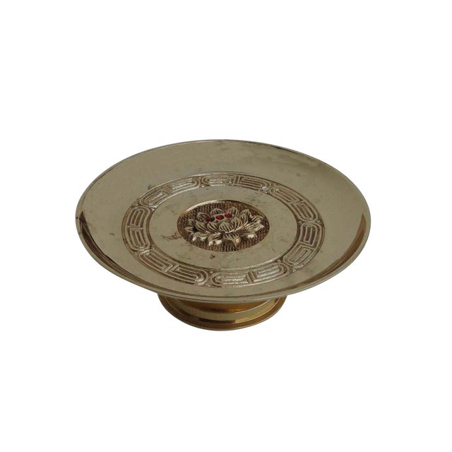 Chinese Copper Offering Plate / Candle Holder For Sale