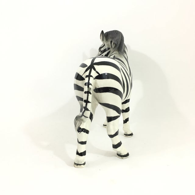 Fitz and Floyd Ceramic Zebra Figure Statue For Sale - Image 4 of 9