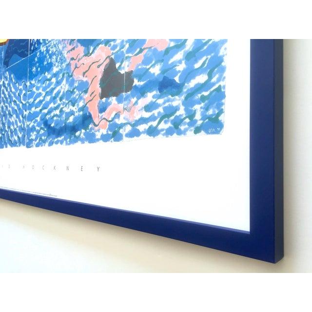 "David Hockney Rare Vintage 1994 Iconic Lithograph Print Large Framed Poster "" Le Plongeur ( Paper Pool 18 ) "" 1978 For Sale - Image 12 of 13"