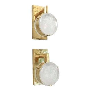 Lens Brass Sconces by Fabio Ltd - a Pair For Sale